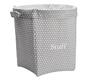 Mini Dot Large Canvas Storage, Gray
