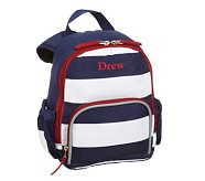 Pre-K Backpack, Fairfax Stripe Navy/White, No Patch