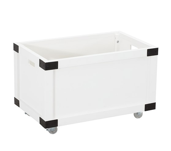 Rustic Toy Box, Simply White