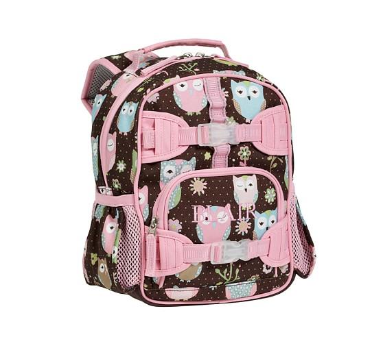 Mackenzie Chocolate Owl Mini Backpack
