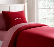 Chamois Duvet Cover, Twin, Red