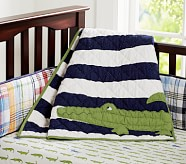 Alligator Madras Nursery Quilt
