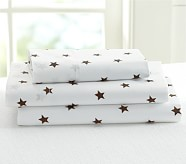 Star Toddler Sheet Set, Brown