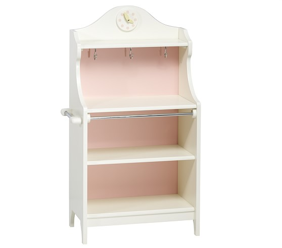 Classic Kitchen Pie Cabinet, Pink/White