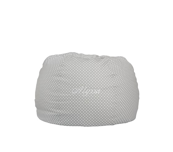 Anywhere Beanbag Slipcover, Gray Mini Dot