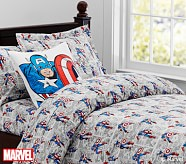 <em>Captain America</em> Comic Duvet Cover, Twin