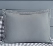 Flannel Standard Sham, Charcoal