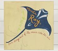 Manta Ray Surf Plaque