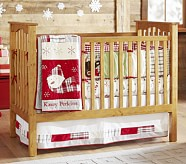 Dear Santa Nursery Quilt Bedding Set: Crib Fitted Sheet, Toddler Quilt & Crib Skirt