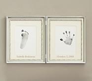 Silver Leaf Handprint & Footprint Frame