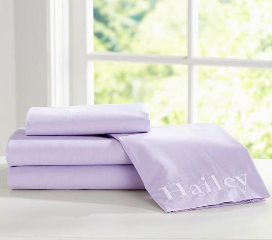 Chambray Sheet Set, Twin, Lavender
