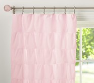 "Tiered Ruffle Sheer 44 x 63"", Pink"