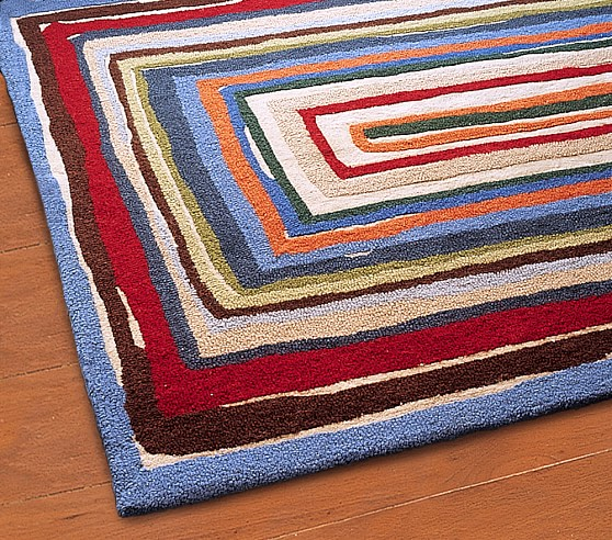 Stacking Squares Rug Swatch