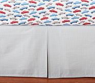 Peyton Gray Gingham Crib Skirt