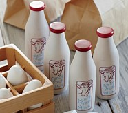 Wooden Milk Container Set, Set of 4