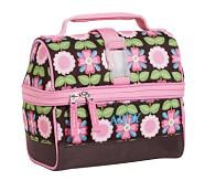 Mackenzie Chocolate Geo Retro Lunch Bag