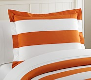 Rugby Stripe Standard Sham, Orange