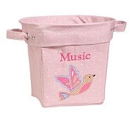 Light Pink Bird Appliqué Tote, Medium