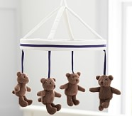 Navy Harper Bear Crib Mobile