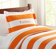 Rugby Duvet Cover, Twin, Orange
