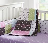 Sophie Nursery Quilt Bedding Set: Toddler Quilt, Crib Skirt & Crib Fitted Sheet