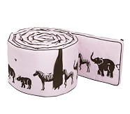 Animal Parade Nursery Bumper, Pink