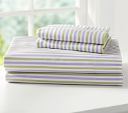 Savannah Sheet Set, Twin, Lavender/Green