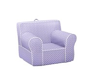 Mini Dot Anywhere Chair® Slipcover Only, Lavender with White Piping