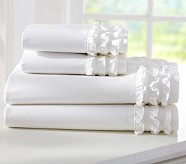 Sweet Ruffle Cuff Sheet Set, Twin