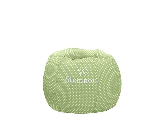 Regular Anywhere Beanbag Slipcover Only, Green Mini Dot