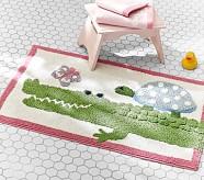 Alligator Bath Mat, Pink