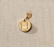 Gold Initial Pendant, F