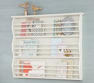 Catalina Magazine Rack, White, Large