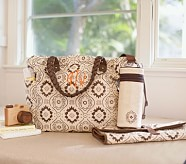 Brown Mosaic Larkspur Diaper Bag