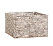 Silver Rope Basket Large