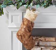 Fox Fur Faux Fur Stocking