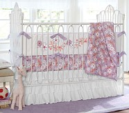 Jillian Nursery Quilt Bedding Set, Toddler Quilt, Crib Skirt & Crib Fitted Sheet