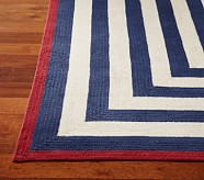 Capel Spiral Rectangle Rug 3x5' Navy and Red
