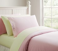 Gingham Duvet Cover, Twin, Pink