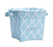 Printed Medium Canvas Storage, Light Blue