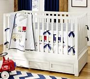 Backseat Driver Nursery Quilt Bedding Set, Toddler Quilt, Crib Skirt & Crib Fitted Sheet