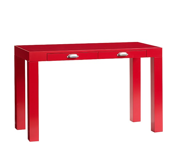 Parsons Desk with Handle, Red