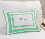 Harper Small Quilted Sham, Bright Green