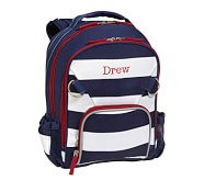 Small Backpack, Fairfax Stripe Navy/White, No Patch
