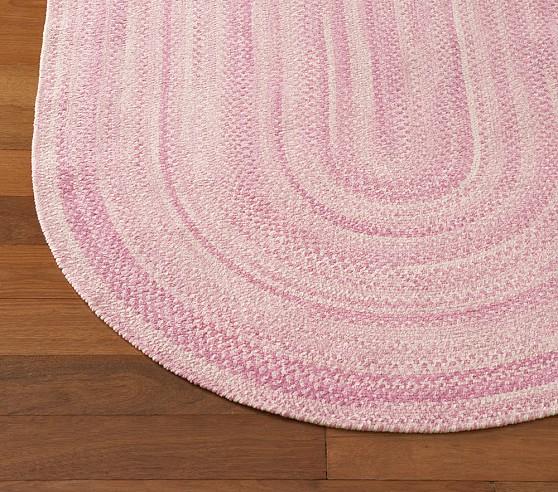 Pink Chenille Braided Rug Swatch