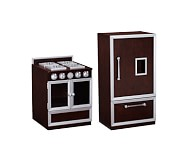 Gourmet Kitchen, Stove & Refrigerator Set