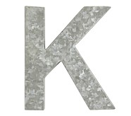 Galvanized Wall Letter, K