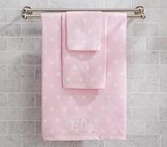 Polka Dot Wash Cloth, Pink