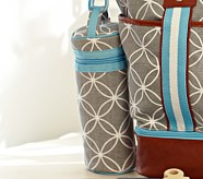 Gray Geo Bottle Bag