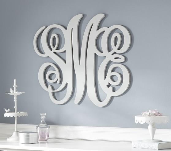 Harper Personalized Monogram, White